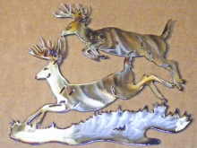 deer,buck,leaping,running,jumping,forest,wildlife,art