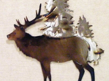 elk,bull,forest,mountain,wildlife,art