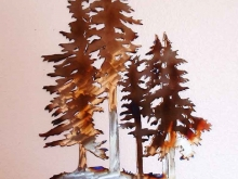 fir,tree,mountain,pine,metal,art