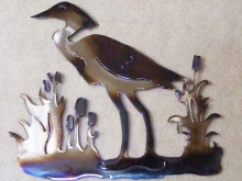 heron,water,bird,cattails,marsh,coastal,wildlife,art