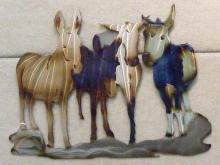 mule,donkey,herd,western,art