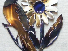 Oriole,Flower,Bird,blackeyesusan,metal,art