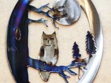 owl,screech,horned,night,wildlife,tree,moon,wildlife,art