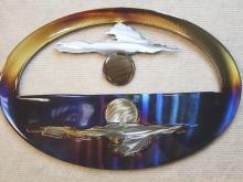 serenity,yin,yang,peace,calm,moon,sun,cloud,metal,art,reflection