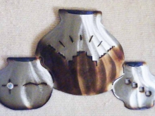 southwest,style,vases,american,native,indian,pueblo,vessels,pots,metal,art