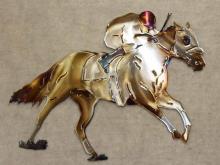 racehorse,track,jockey,winner,circle,running,metal,art