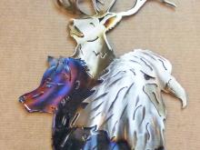 wildlife,bald,eagle,wolf,bull,elk,mountain,wilderness,art